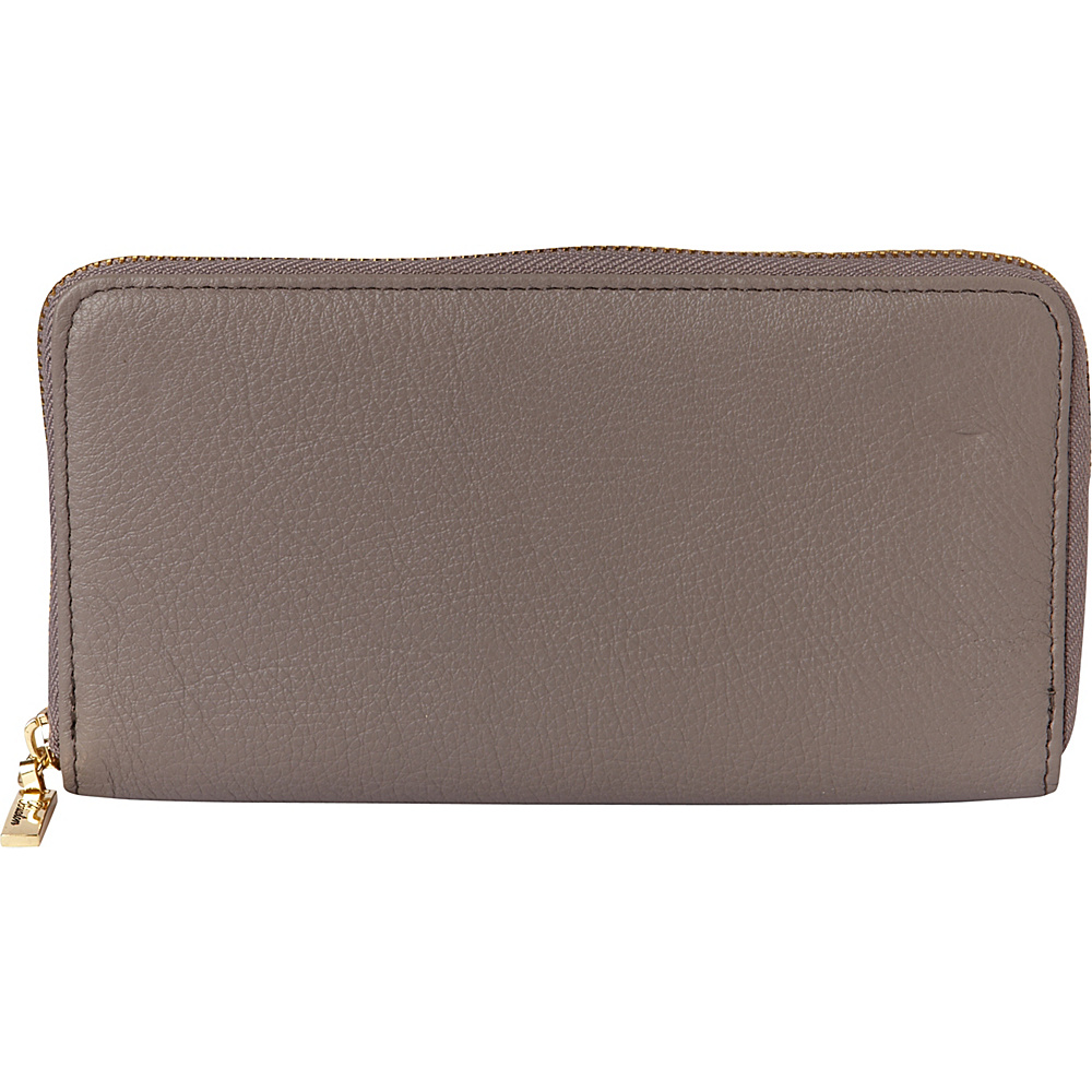 Buxton Florence Slim Single Zip Medium Grey - Buxton Womens Wallets - Women's SLG, Women's Wallets