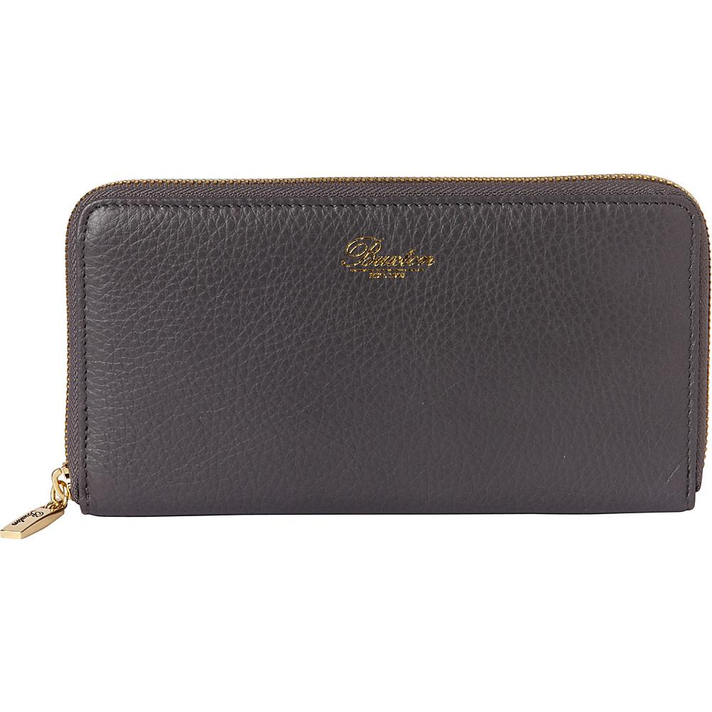 Buxton Florence Slim Single Zip Grey - Buxton Womens Wallets - Women's SLG, Women's Wallets