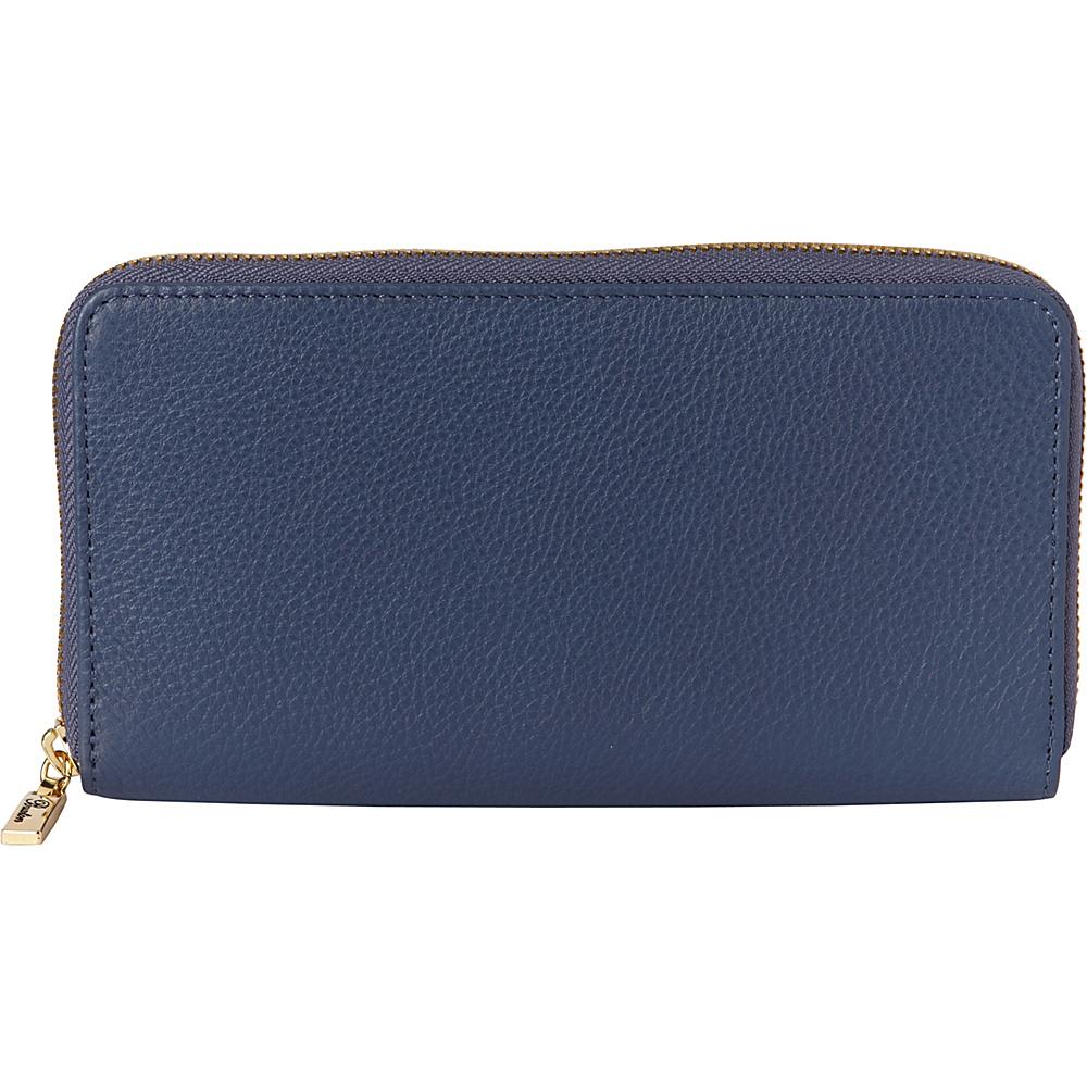 Buxton Florence Slim Single Zip Light Blue - Buxton Womens Wallets - Women's SLG, Women's Wallets