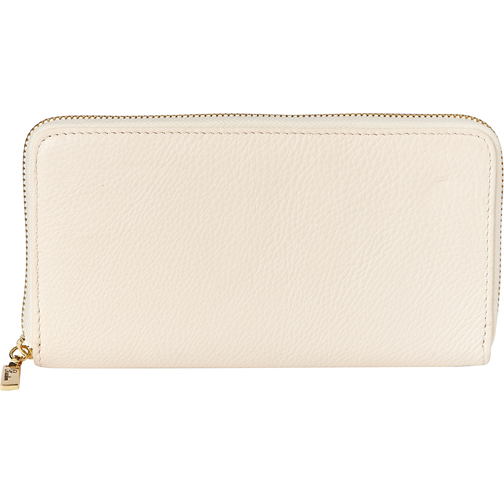 Buxton Florence Slim Single Zip Natural Beige - Buxton Womens Wallets - Women's SLG, Women's Wallets
