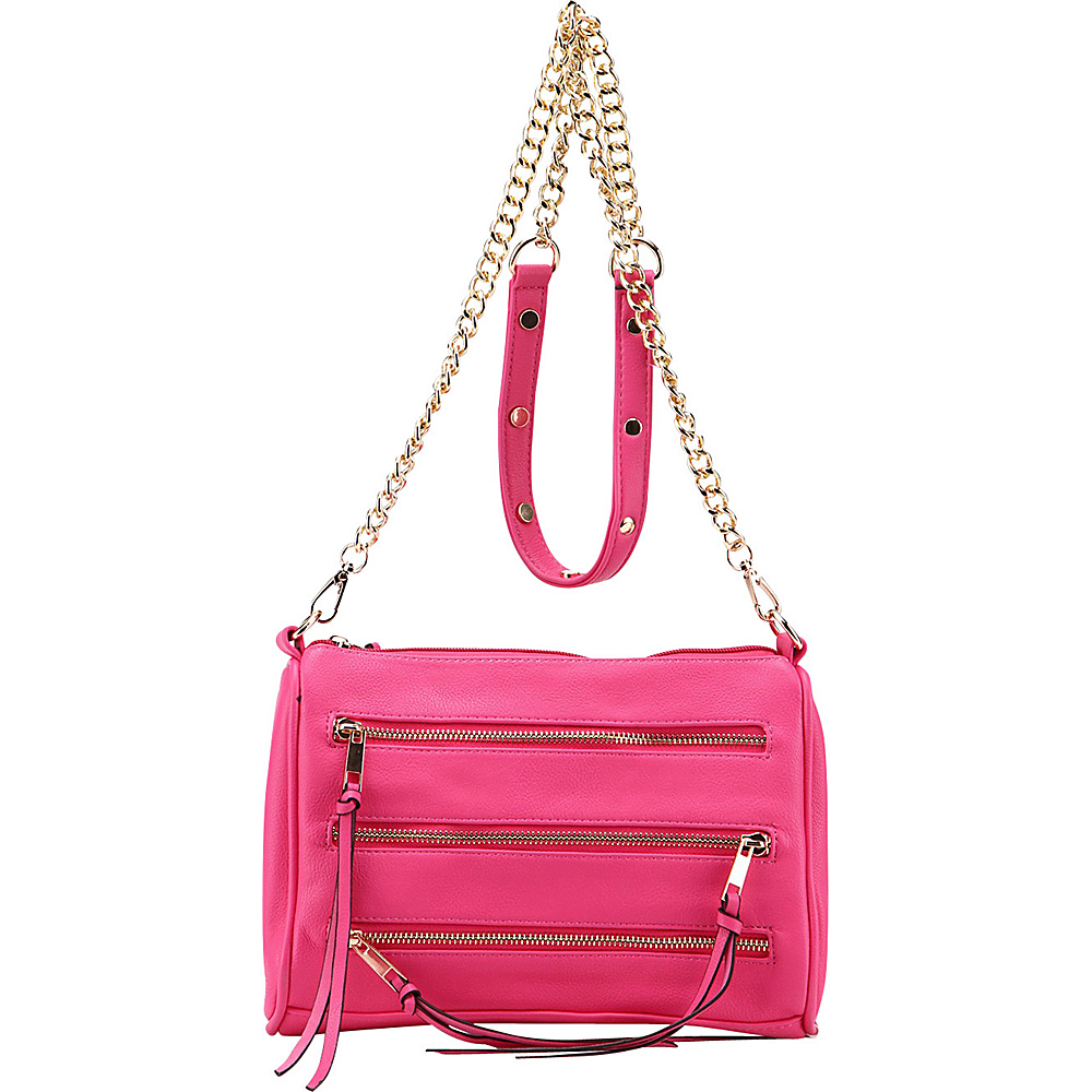 MKF Collection Arlene 3 Zip Crossbody Rose - MKF Collection Leather Handbags - Handbags, Leather Handbags