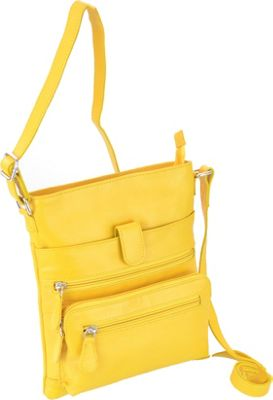 R & R Collections Small Crossbody Yellow - R & R Collections Leather Handbags