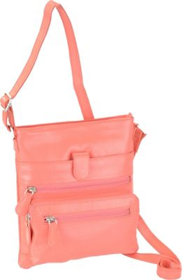 R & R Collections Small Crossbody Coral - R & R Collections Leather Handbags