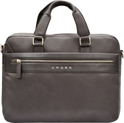 Cross Men's Nueva FV Leather Briefcase Oak Brown - Cross Non-Wheeled Business Cases