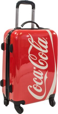 Coca Cola Coca Cola 21 Inch Spinner Rolling Carry-On MULTI COLOR - Coca Cola Hardside Carry-On