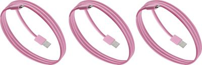 PURTECH Apple MFI Certified Lightning Cable 3.3 Feet Strong Jacket - Sync/Charge - 3PK Matte Pink - PURTECH Electronic Accessories