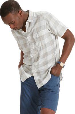 NAU Clothing Mens Short Sleeve Bilateral Shirt M - Sea Glass Plaid - NAU Clothing Men's Apparel