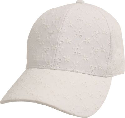 FITS Eyelet Baseball Cap One Size - White - FITS Hats
