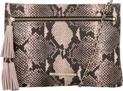 Elaine Turner Sonata Clutch Blush Python - Elaine Turner Leather Handbags