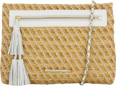 Elaine Turner Sonata Clutch Hemp Raffia - Elaine Turner Leather Handbags