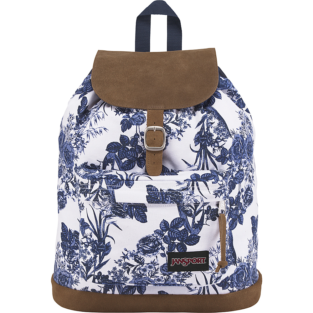 JanSport Haiden Laptop Backpack White Artist Rose - JanSport Laptop Backpacks