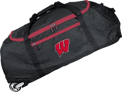 Mojo Licensing NCAA 36 inch Collapsible Duffle Wisconsin - Mojo Licensing Travel Duffels