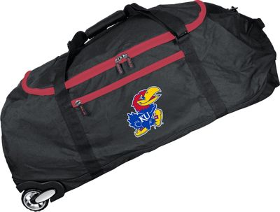 Mojo Licensing NCAA 36 inch Collapsible Duffle Kansas - Mojo Licensing Travel Duffels