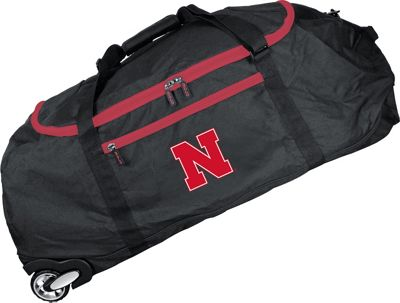 Mojo Licensing NCAA 36 inch Collapsible Duffle Nebraska - Mojo Licensing Travel Duffels