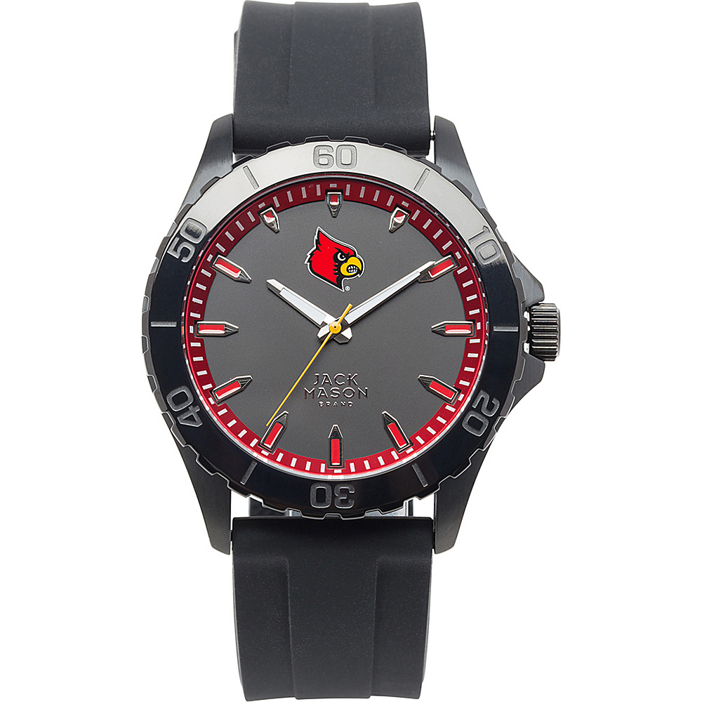 Jack Mason League NCAA Silicone Watch Louisville Cardinals - Jack Mason League Watches - Fashion Accessories, Watches