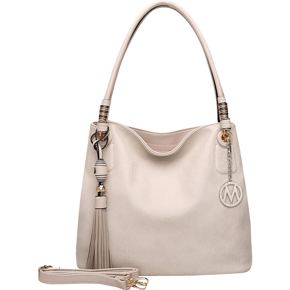 MKF Collection Fiona Hobo Beige - MKF Collection Manmade Handbags - Handbags, Manmade Handbags