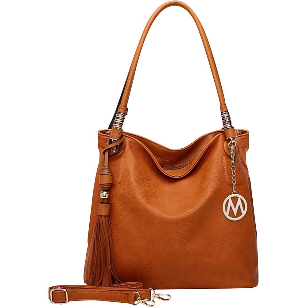 MKF Collection Fiona Hobo Brown - MKF Collection Manmade Handbags - Handbags, Manmade Handbags