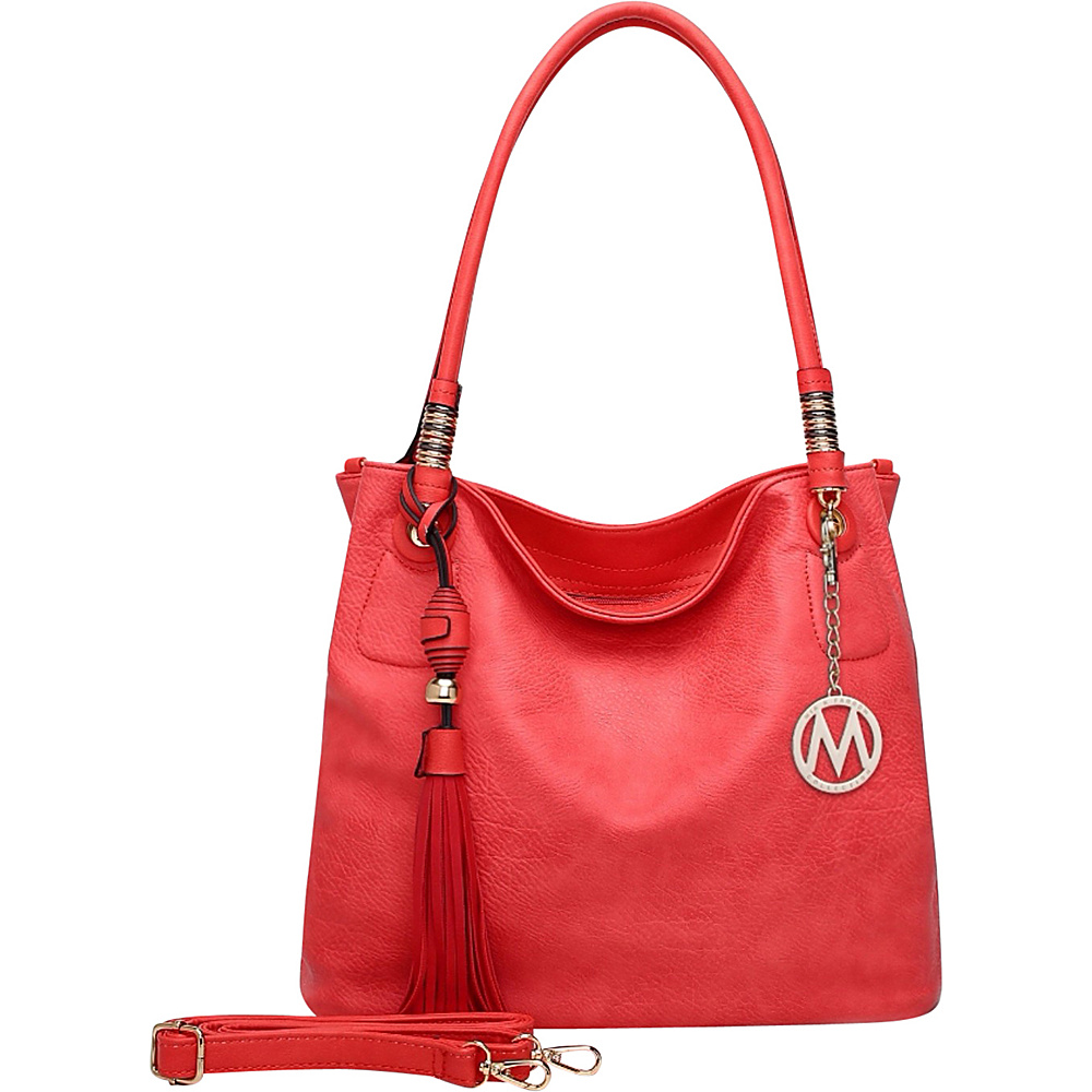MKF Collection Fiona Hobo Red - MKF Collection Manmade Handbags - Handbags, Manmade Handbags