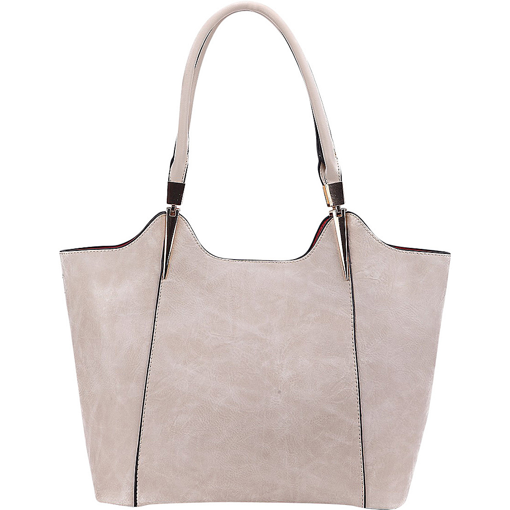 MKF Collection 2 in 1 Tote Beige - MKF Collection Manmade Handbags - Handbags, Manmade Handbags