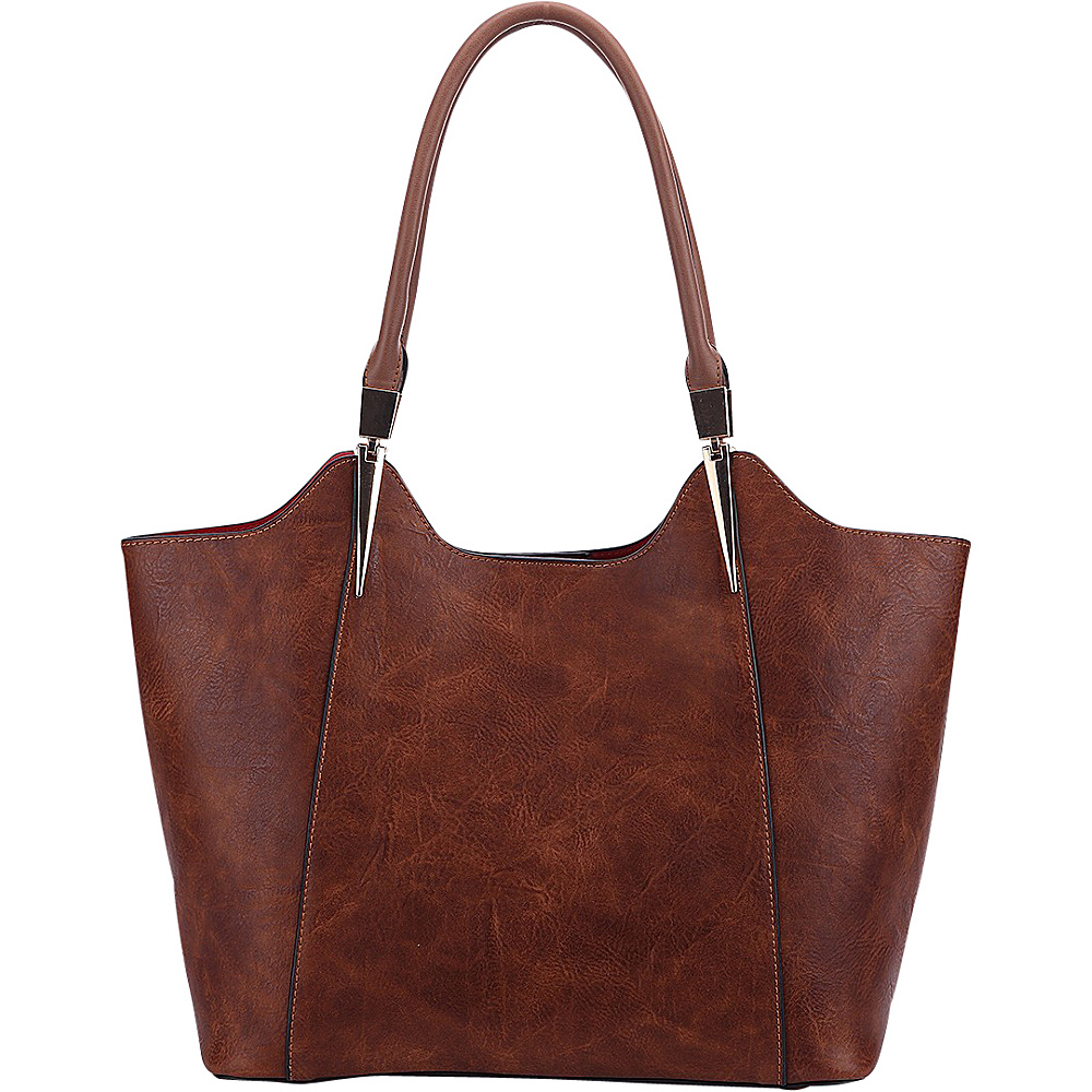 MKF Collection 2 in 1 Tote Brown - MKF Collection Manmade Handbags - Handbags, Manmade Handbags