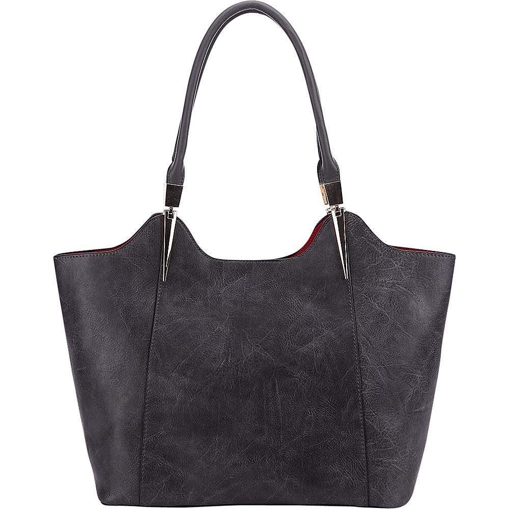 MKF Collection 2 in 1 Tote Dark Grey - MKF Collection Manmade Handbags - Handbags, Manmade Handbags