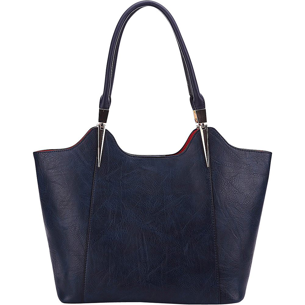 MKF Collection 2 in 1 Tote Navy - MKF Collection Manmade Handbags - Handbags, Manmade Handbags