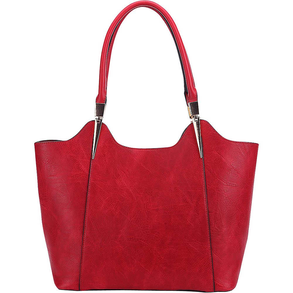 MKF Collection 2 in 1 Tote Red - MKF Collection Manmade Handbags - Handbags, Manmade Handbags