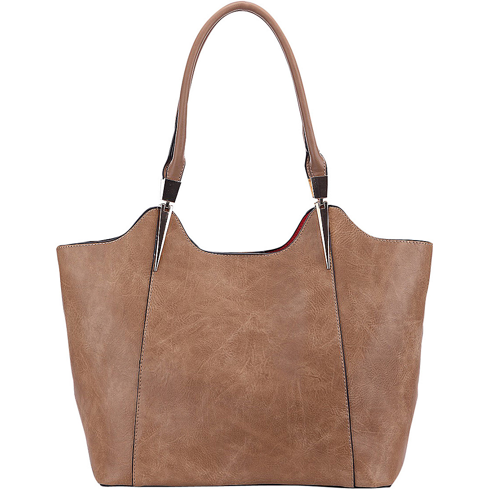 MKF Collection 2 in 1 Tote Taupe - MKF Collection Manmade Handbags - Handbags, Manmade Handbags