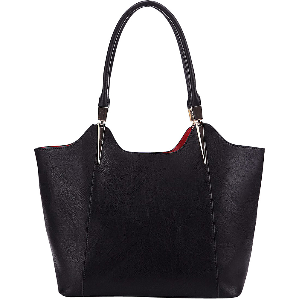 MKF Collection 2 in 1 Tote Black - MKF Collection Manmade Handbags - Handbags, Manmade Handbags
