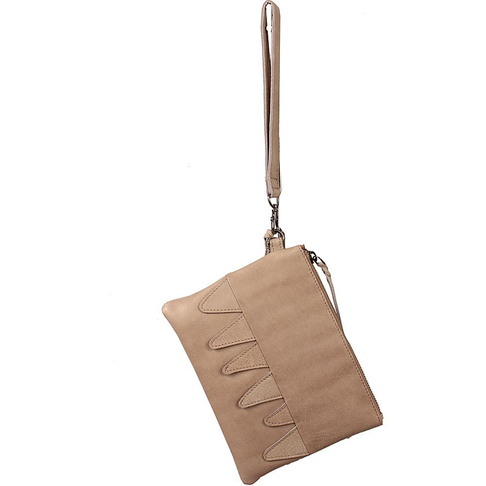 Latico Leathers Billy Clutch Oat - Latico Leathers Leather Handbags - Handbags, Leather Handbags