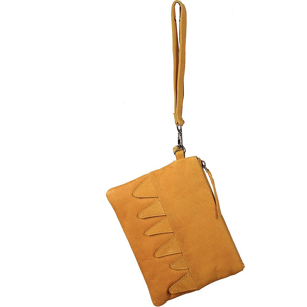 Latico Leathers Billy Clutch Yellow - Latico Leathers Leather Handbags - Handbags, Leather Handbags