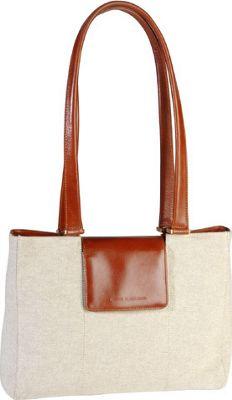 Derek Alexander E/W Tote Shoulder Bag Natural/Tan - Derek Alexander Fabric Handbags