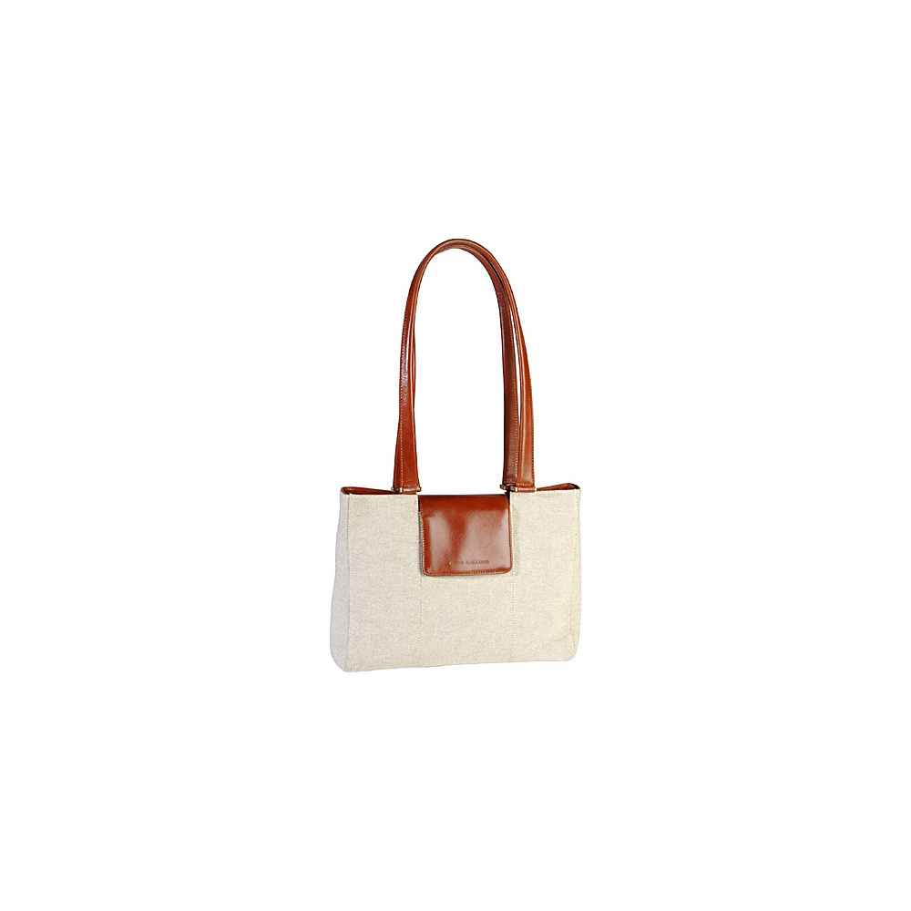 Derek Alexander E/W Tote Shoulder Bag Natural/Tan - Derek Alexander Fabric Handbags - Handbags, Fabric Handbags