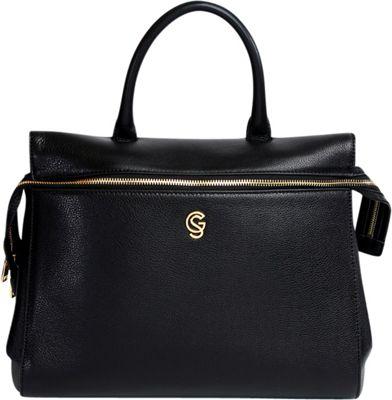 Gregory Sylvia McCarron Satchel Black - Gregory Sylvia Leather Handbags
