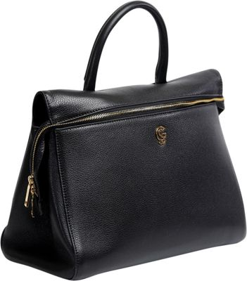 Gregory Sylvia McCarron Satchel Black - Gregory Sylvia Leather Handbags