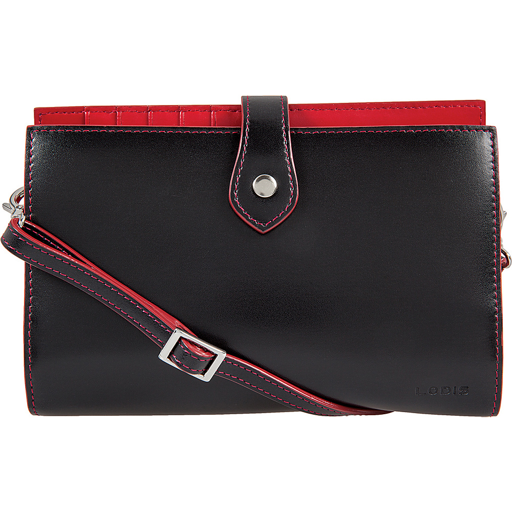 Lodis Audrey Chrissy Convertible Wallet on a String Black - Lodis Womens Wallets - Women's SLG, Women's Wallets