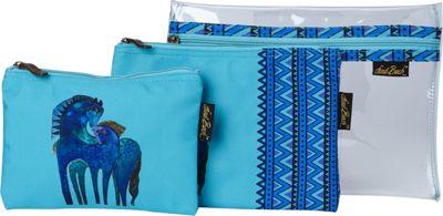 Laurel Burch Indigo Mares Set of 3 Cosmetic Bags Indigo M...