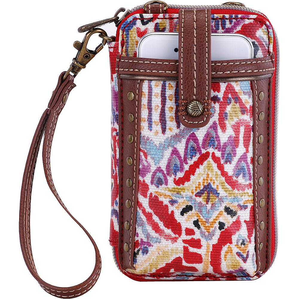 Sakroots Artist Circle Smartphone Wristlet- Seasonal Colors Sweet Red Brave Beauti - Sakroots Womens Wallets - Women's SLG, Women's Wallets