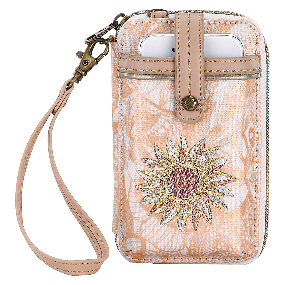 Sakroots Artist Circle Smartphone Wristlet- Seasonal Colors Rose Gold Spirit Desert - Sakroots Womens Wallets - Women's SLG, Women's Wallets
