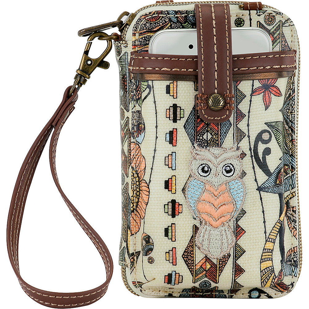 Sakroots Artist Circle Smartphone Wristlet- Seasonal Colors Cream Spirit Desert - Sakroots Womens Wallets - Women's SLG, Women's Wallets