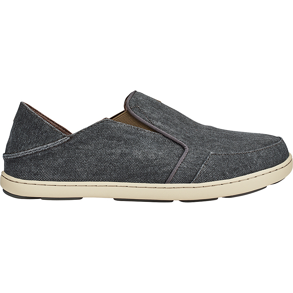 OluKai Mens Nohea Lole Slip-On 12 - Charcoal/Caper - OluKai Mens Footwear - Apparel & Footwear, Men's Footwear
