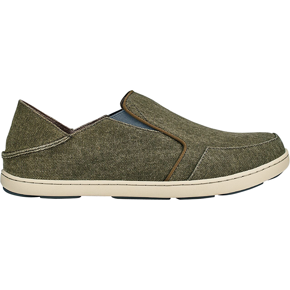 OluKai Mens Nohea Lole Slip-On 7 - Caper/Charcoal - OluKai Mens Footwear - Apparel & Footwear, Men's Footwear