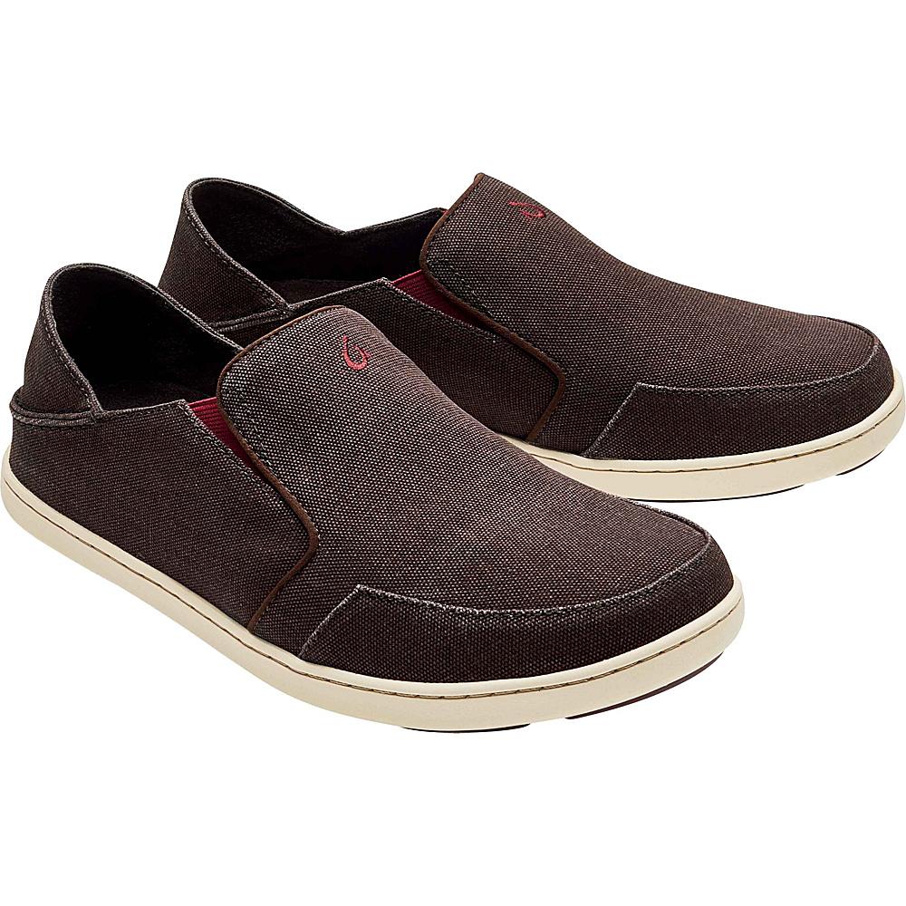 OluKai Mens Nohea Lole Slip-On 8.5 - Dark Wood/Terra - OluKai Mens Footwear - Apparel & Footwear, Men's Footwear