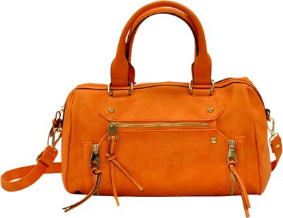 MoDa Rustic Satchel Orange - MoDa Manmade Handbags