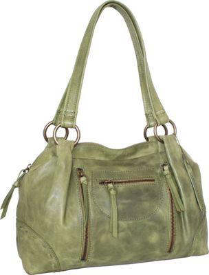 Nino Bossi Francisca Satchel Avocado - Nino Bossi Leather Handbags