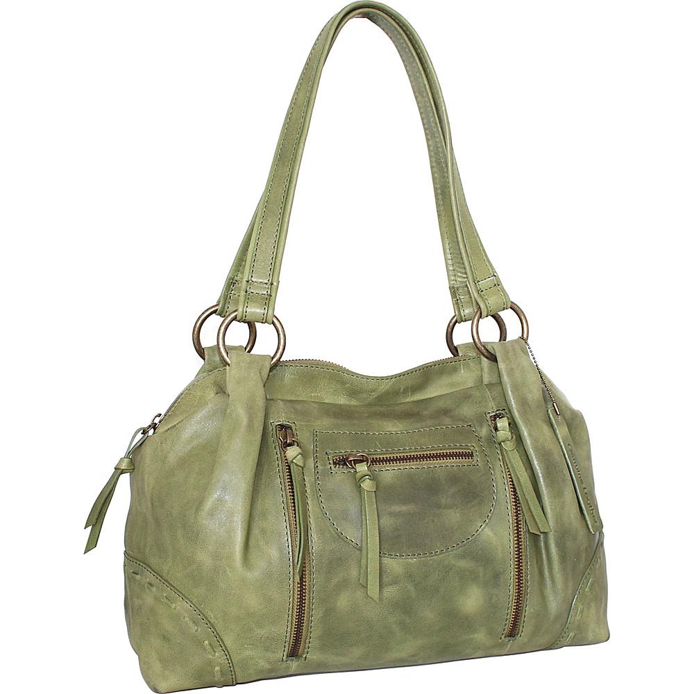 Nino Bossi Francisca Satchel Avocado - Nino Bossi Leather Handbags - Handbags, Leather Handbags