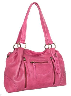 Nino Bossi Francisca Satchel Fuchsia - Nino Bossi Leather Handbags