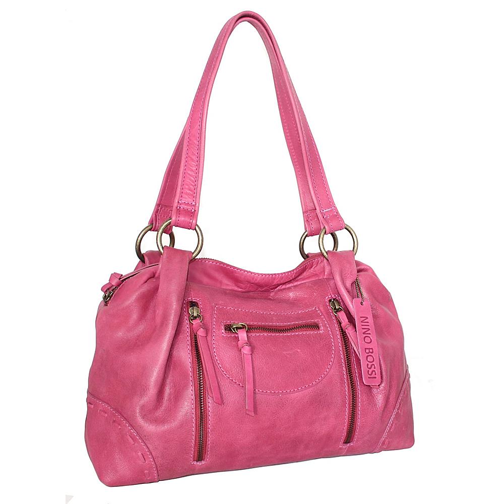 Nino Bossi Francisca Satchel Fuchsia - Nino Bossi Leather Handbags - Handbags, Leather Handbags
