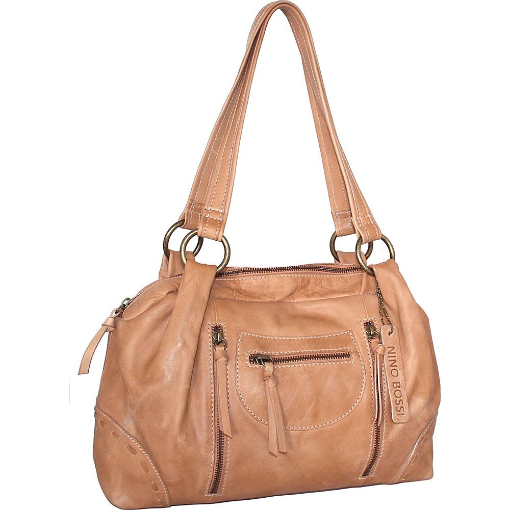 Nino Bossi Francisca Satchel Nut - Nino Bossi Leather Handbags - Handbags, Leather Handbags