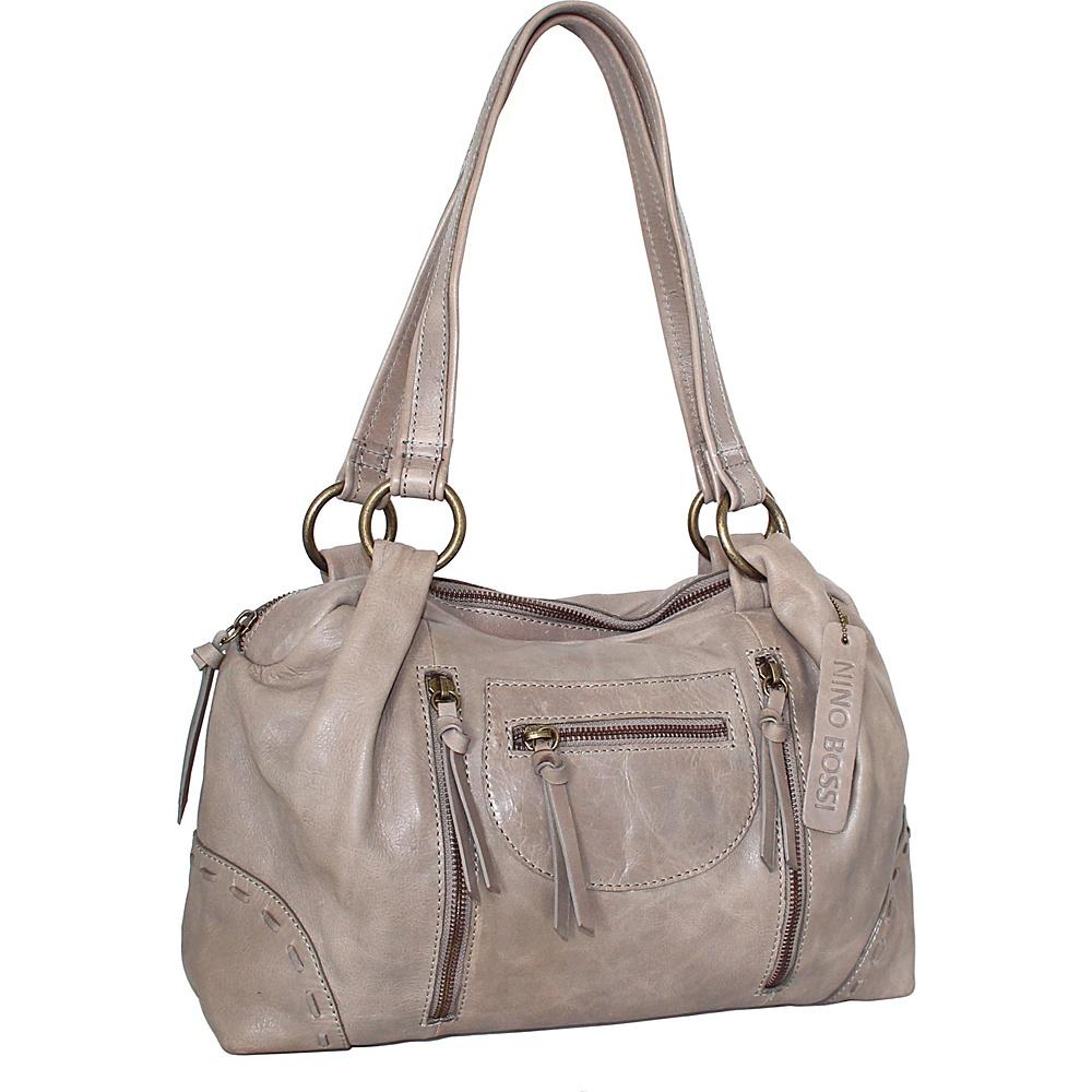 Nino Bossi Francisca Satchel Stone - Nino Bossi Leather Handbags - Handbags, Leather Handbags
